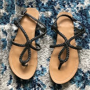 Merona sandals w/ black straps.